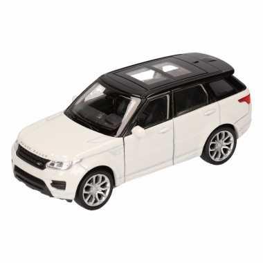 Speelgoed witte range rover sport auto 1:36
