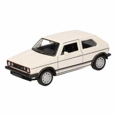 Speelgoed witte volkswagen golf i gti speelauto 12 cm
