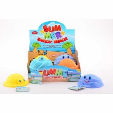 Speelgoed zandvorm schildpad geel