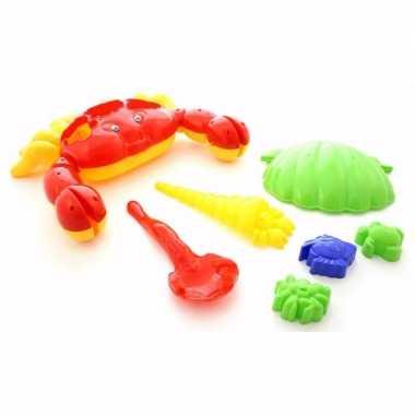 Speelgoed zeedieren zandvormen 8 stuks