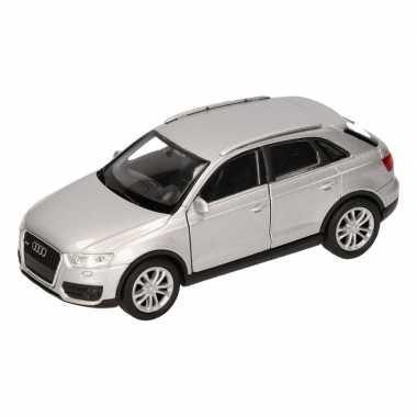 Speelgoed zilveren audi q3 auto 12 cm