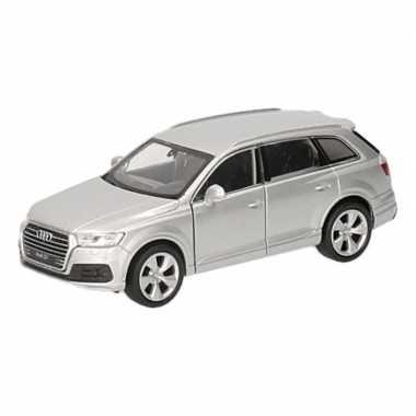 Speelgoed zilveren audi q7 auto 12 cm