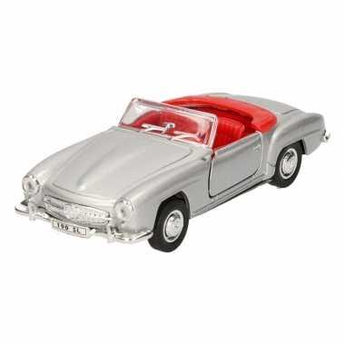 Speelgoed zilveren mercedes-benz 190sl 1955 cabrio auto 15 cm
