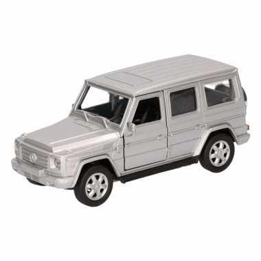 Speelgoed zilveren mercedes-benz g-class speelauto 12 cm