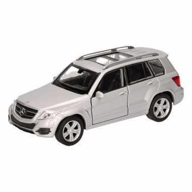 Speelgoed zilveren mercedes-benz glk auto 12 cm