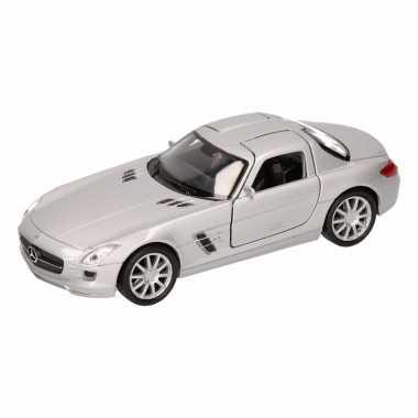 Speelgoed zilveren mercedes sls amg 11,5 cm