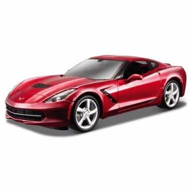 Speelgoedauto rode chevrolet corvette stringray 2014
