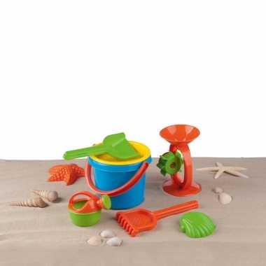 Vakantie strand/zwembad schepjes en emmertjes speelgoed setje 8 delig