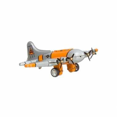 Vintage speelgoed vliegtuig 16 cm
