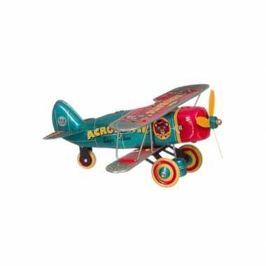 Vintage speelgoed vliegtuig 18 cm