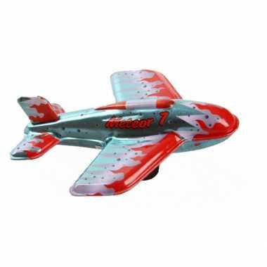 Vintage speelgoed vliegtuigje meteor 7 11 cm