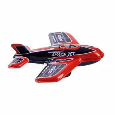 Vintage speelgoed vliegtuigje space jet 11 cm