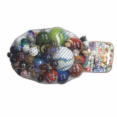 Voordelige speelgoed glazen knikkers 1 kilo