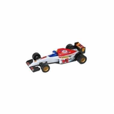 Witte formule 1 speelgoed race auto