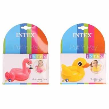 Zwembad speelgoed eendje en flamingo