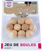 10x jeu de boules petanque houten buts markerings balletjes 30 mm buitenspeelgoed