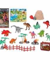 10x plastic dinosaurus dieren speelgoed figuren voor kinderen