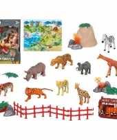10x plastic safari wilde dieren speelgoed figuren voor kinderen