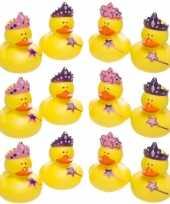12x badeendjes prinsessen badspeelgoed 5 cm