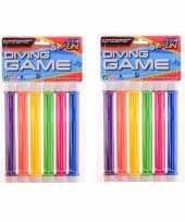 12x gekleurde duikstaafjes opduik speelgoed 20 cm