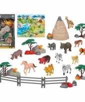 12x plastic safari wilde dieren speelgoed figuren voor kinderen