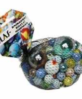 158x gekleurde speelgoed knikkers