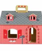 19 delig speelgoed poppenhuis hout