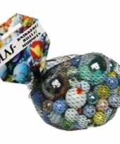 237x gekleurde speelgoed knikkers