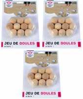 30x jeu de boules petanque houten buts markerings balletjes 30 mm buitenspeelgoed