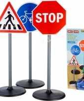 3x grote speelgoed verkeersborden 65 cm 10148029