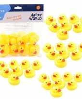 40x badspeelgoed gele eendjes 6 cm
