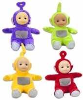 4x teletubbies speelgoed knuffels poppen set 18 cm