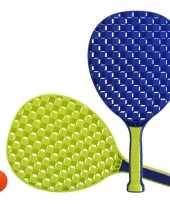 Blauw groene beachball set buitenspeelgoed