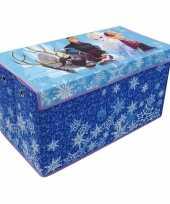 Blauwe frozen disney speelgoed opbergbox 76 cm