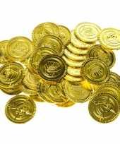 Gouden piraten speelgoed munten 100 stuks