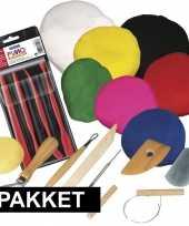 Groot kleien speelgoed pakket met boetseerklei en gereedschap