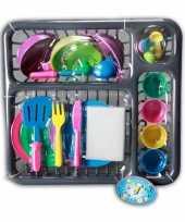 Huishouden speelgoed afwasrek
