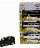 Kinderspeelgoed land rover auto zwart 20 cm