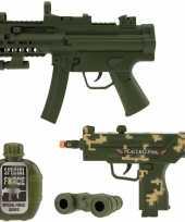 Leger speelgoed pistool wapen set 4 delig