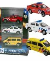 Nederlandse politie brandweer ambulance speelgoedauto set
