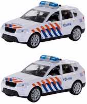 Pakket van 4x stuks 112 speelgoed politieauto met licht en geluid 12 cm