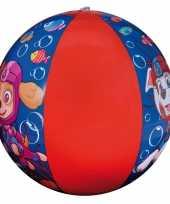 Paw patrol opblaasbare speelgoed strandbal blauw rood 40 cm