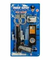 Politie accessoires speelgoed 4 delig voor kinderen