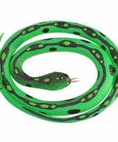 Rubberen speelgoed gras slangen 117 cm