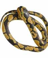 Rubberen speelgoed koningspython mega slang 183 cm