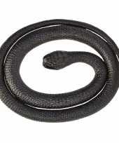 Rubberen speelgoed zwarte mamba slang 117 cm