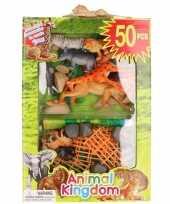 Safari dieren wilde dieren speelgoed 50 delig