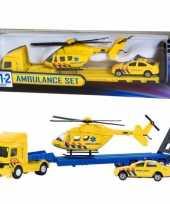 Speelgoed 112 ambulance set 3 delig speelgoedauto 26 16 7 cm