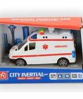 Speelgoed ambulance met licht en geluid 14 cm