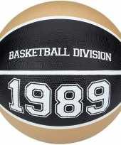Speelgoed basketbal beige zwart 23 cm
